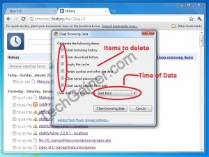 Now remove all or specific data also by choosing date.