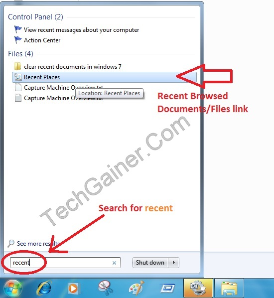 How To Clear All Recent Documents/Files Records In Windows