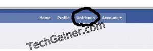 "Click on ""Unfriends"" to access all unfriend finder features"
