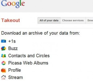 Download all google data in one click by google takeout