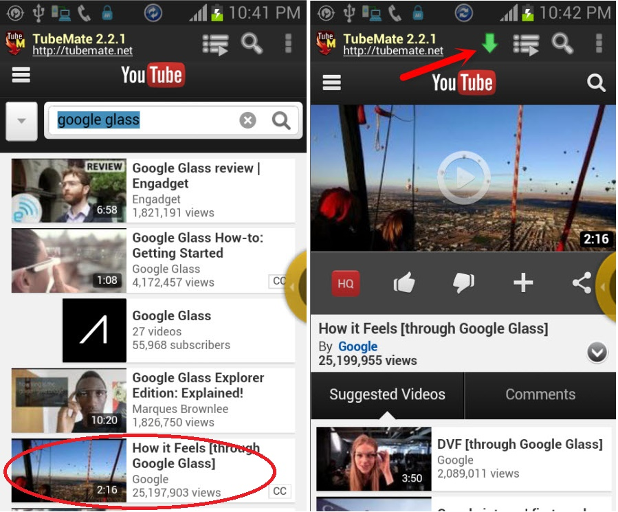 how to download youtube videos directly on android phone