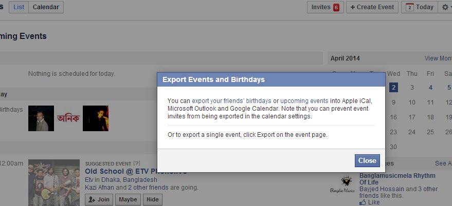Export and Auto Sync Facebook Birthdays in Google Calendar