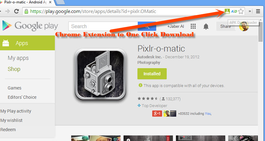 One Click Download APK with Chrome