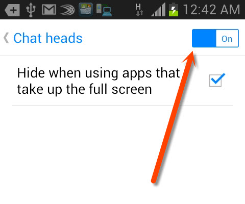 How to Disable Chat Heads Bubble of Facebook Messenger on Android