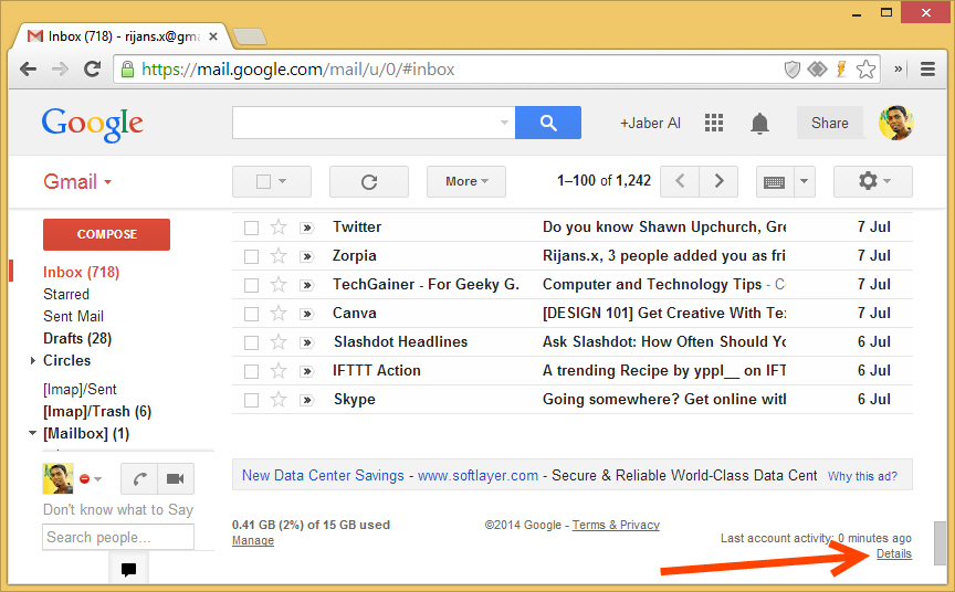 how to view google drive activity