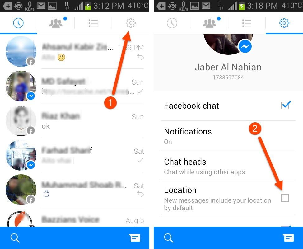 Disable Facebook Messenger Location Sharing on Android and iOS