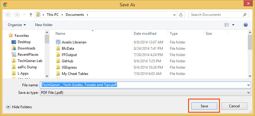 Save Web Pages as PDF in Chrome, Firefox and Other Browsers | TechGainer