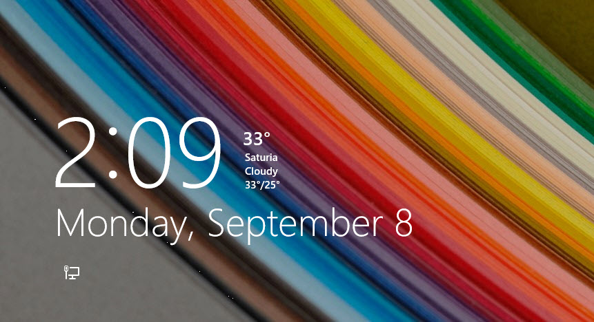 how to show temperature on lock screen