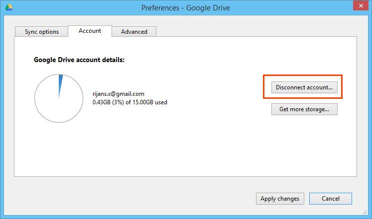 how to change default google drive