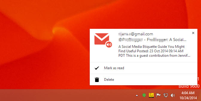 how to get notification when email is read in gmail
