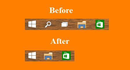 Remove Windows 10 Taskbar Buttons