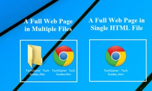 Save pages in single HTML file