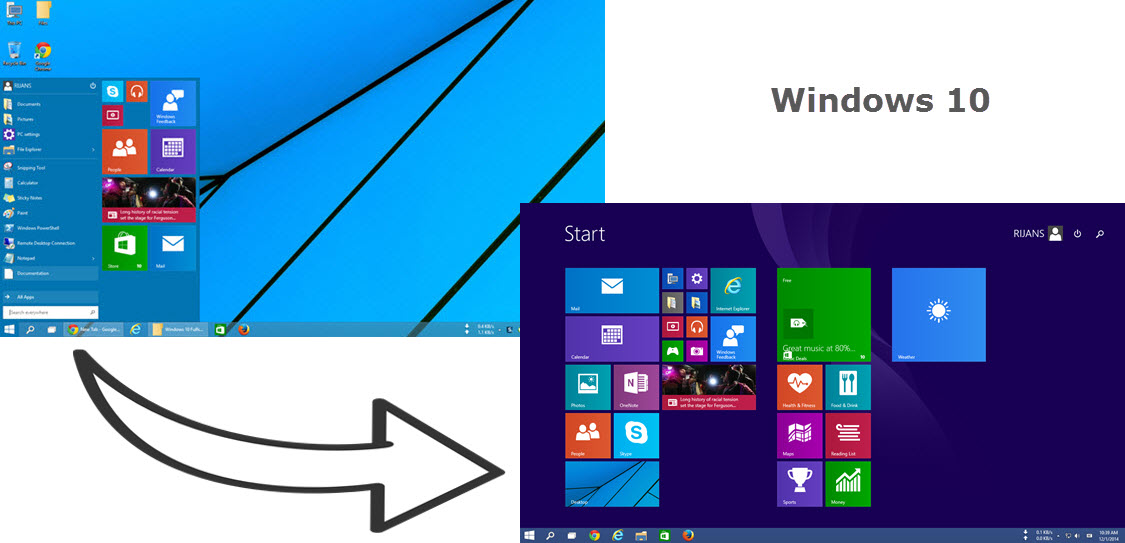 How to Switch to Full Screen Start Screen on Windows 10