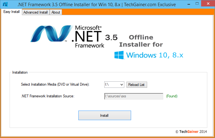 NET Framework 3.5 Offline Installer for Windows 10 and 8.x | TechGainer
